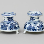A PAIR OF CHINESE SALT CELLARS, Kangxi (1662-1722) probably before 1700