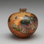 A FINE JAPANESE CLOISONNE VASE, 19th century