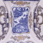 A PAIR OF CHINESE BLUE AND WHITE VASES AND COVERS, Qianlong (1736-1795)