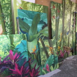 Private Villa, Cannes, Gallery wall, mural paintings