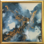 La Dragon, Contemporary paintings and metal wall sculptures