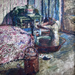 Maud Mathers , Interior with Nude Washing, 1914