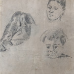 Study of Madame Cézanne and the artist's son Paul (recto / verso)
