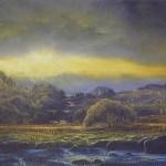 Gerald Dewsbury, Yellow Sunset, Afon Tryweryn