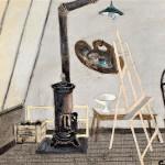 Claude Venard, La Poele dans L'Atelier, 1940