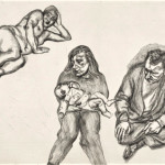 Lucien Freud, Four Figures, 1991