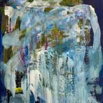 Lisa Sharpe Paintings, Midnight Blue Skies, Fresh Moss, Cool Waterfalls