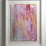 Lisa Sharpe Paintings, Yellow, White, Pink, Aquamarine