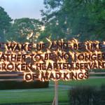 Robert Montgomery, Fire Poem 4, 2013