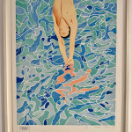 David Hockney, Olympic Games Munich (The Diver) Limited Hand Signed Edition, 1970