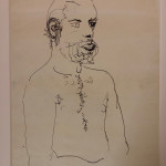 Study for 'Peter Nude, Sitting on Edge of Bed' Ink on Paper Original David Hockney