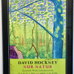 David Hockney, Hand Signed Original Poster 'Nur Natur', 2009