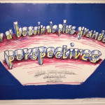 Hand Signed David Hockney Original Poster 'On a besoin de plus grandes perspectives' (Wider perspectives are needed now).