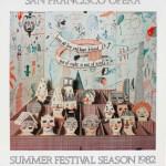 David Hockney, Hand Signed Original Poster Francisco Opera , 1982