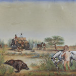J.H. Preston, Pig sticking in India, a set of four