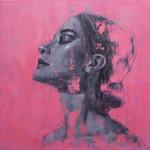 Jamel Akib, Portrait on Pink No.2, 2021