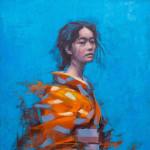 Jamel Akib, The Orange Kimono, 2021