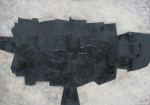 William Gear RA, Black Form, 1956