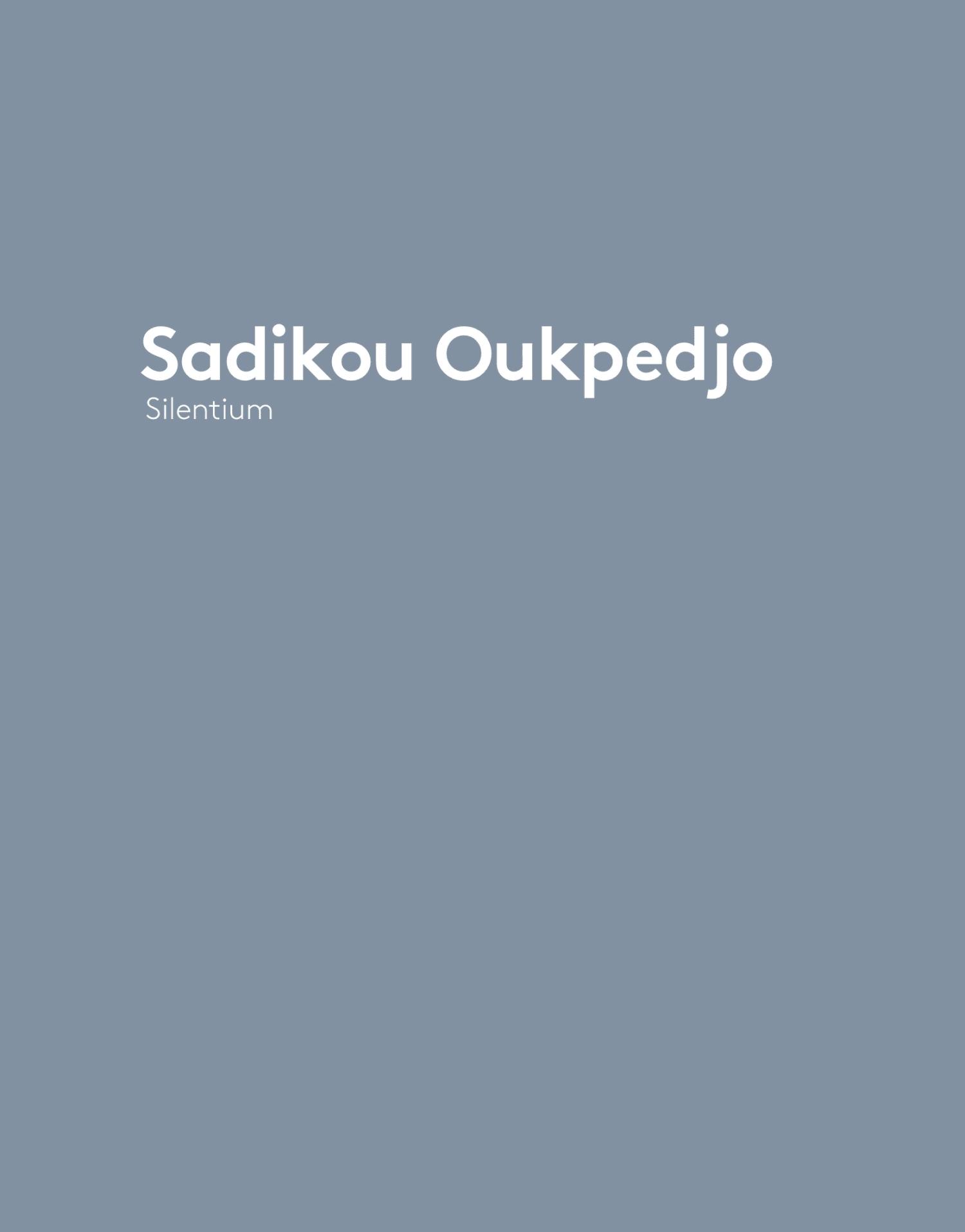 Sadikou Oukpedjo - Silentium