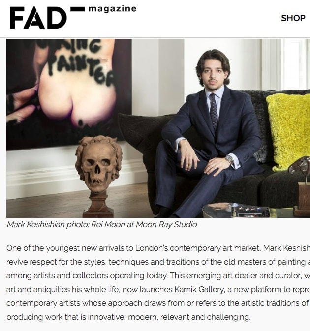Mark Keshishian in FAD Magazine