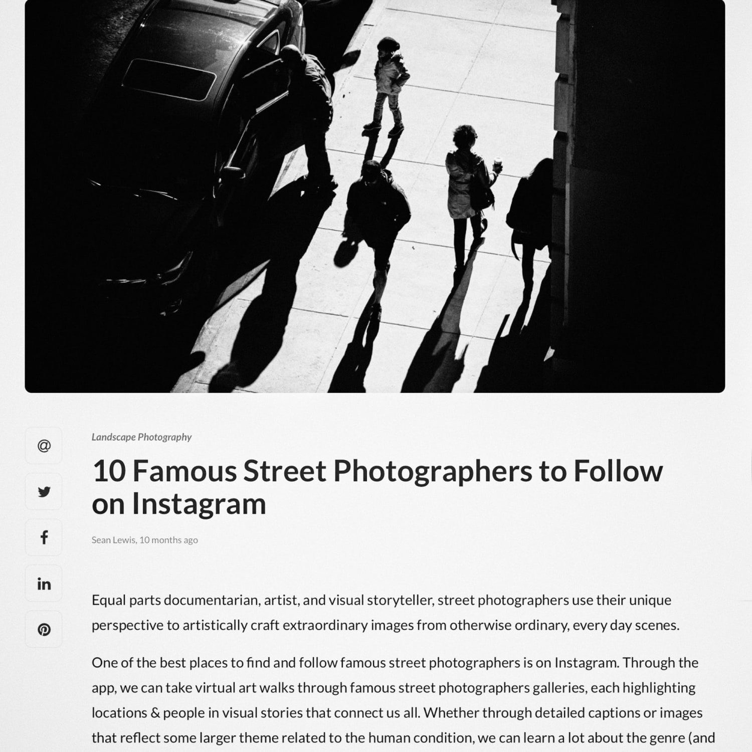 10 Famous Street Photographers on Instagram