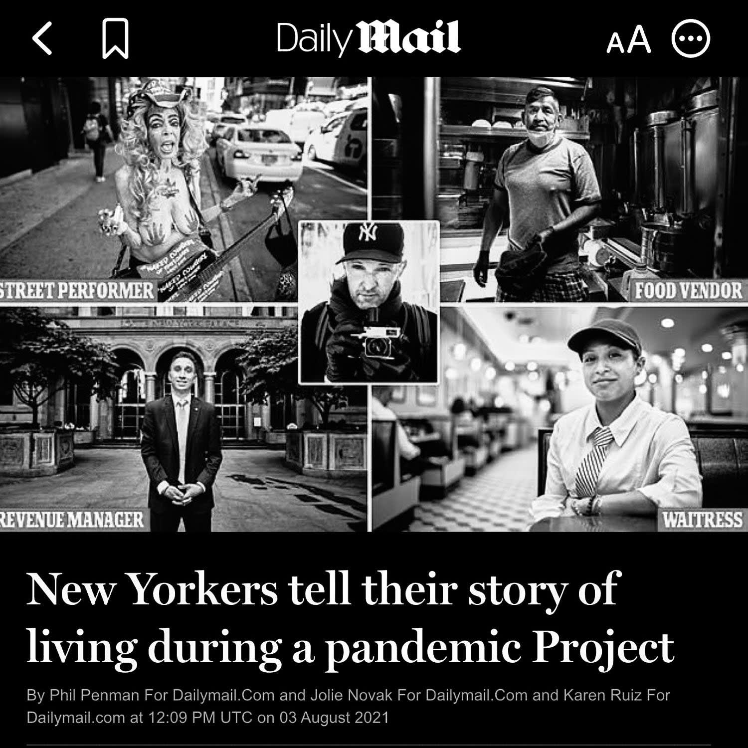 DAILY MAIL: Life During a Pandemic