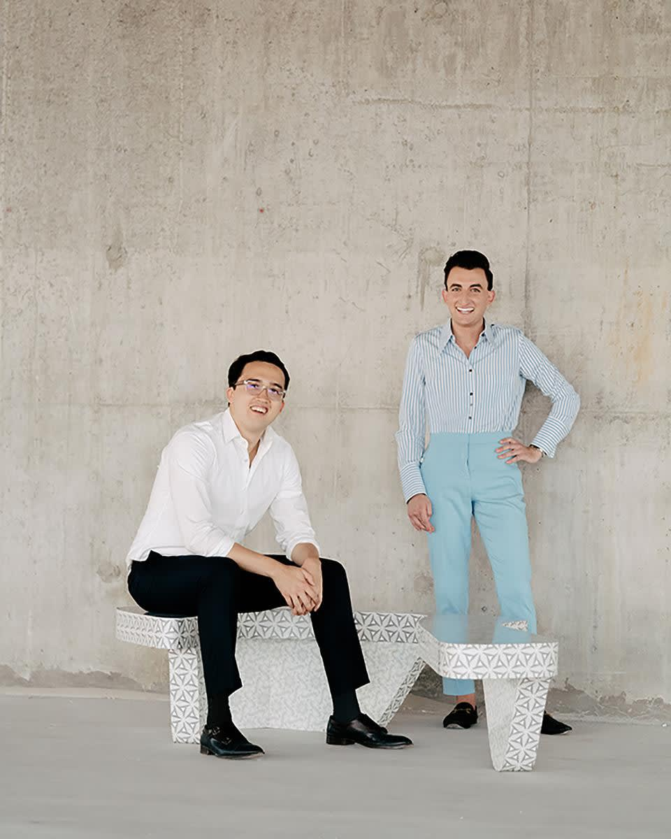Portrait of Cory Silverstein and Joshua Pulman by Ryan Duffin