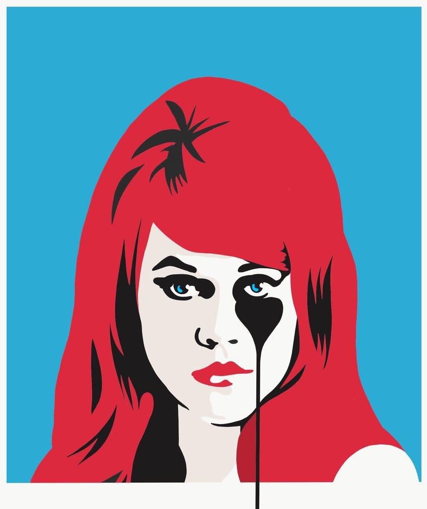 Jane Fonda - Red and Blue, 2017