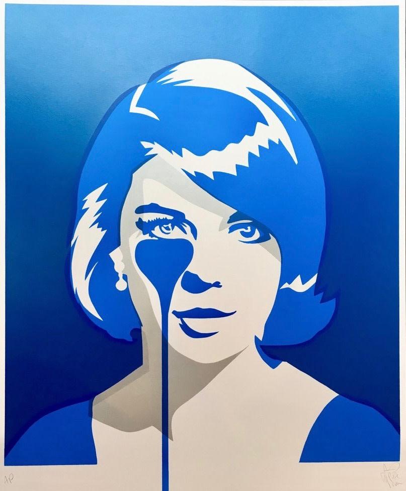 Natalie Wood -Christopher Walken's Nightmare - Double Exposure Blue, 2017