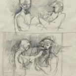 Sketch for Labourers Lighting a Cigarette