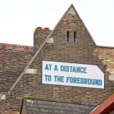 Lawrence Weiner, AT A DISTANCE TO THE FOREGROUND, 1999