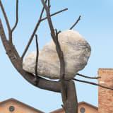 A close up of Giuseppe Penone's The Listener installation on view at the 17th International Architecture Exhibition - La Biennale di Venezia 2021