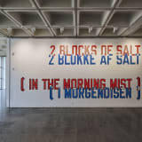 Lawrence Weiner, CLOSE TO A RAINBOW, Holstebro Kunstmuseum