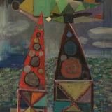 Hananiah Harari High Signs, 1940 Oil on canvas, 13 x 11 inches