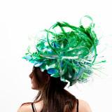 Aurora Robson Plantpocalypse, 2020 Plastic and paper debris on found hard hat, 21 x 19 x 19 inches (53.3 x...