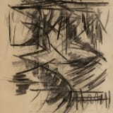 Michael (Corinne) West Directions, 1976 Charcoal on paper, 25 x 19 inches