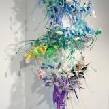 Aurora Robson Infinite Content 1, 2 + 3, 2020 Wraparound 'corner relief,' plastic debris pieces, Variable dimensions