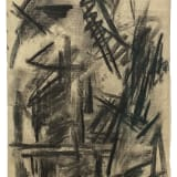 Michael (Corinne) West Viet Poème, 1964 Charcoal on paper, 19 x 12 5/8 inches