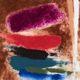 Friedel Dzubas Strafford, 1978 Magna acrylic on canvas, 9 1/2 x 9 1/4 inches (24.1 x 23.5 cm)
