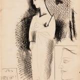 Arshile Gorky, Untitled [Double-sided], circa 1931–1933