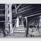 Artwork thumbnail: Jim Shaw, Donald and Melania Trump descending the escalator into the 9th circle of hell reserved for traitors frozen in a sea of ice, 2020