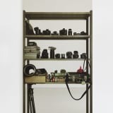 Artwork thumbnail: Michelangelo Pistoletto, Scaffali - strumenti fotografici (Shelves – photographic instruments), 2015