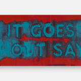 Artwork thumbnail: Mel Bochner, It Goes Without Saying, 2019