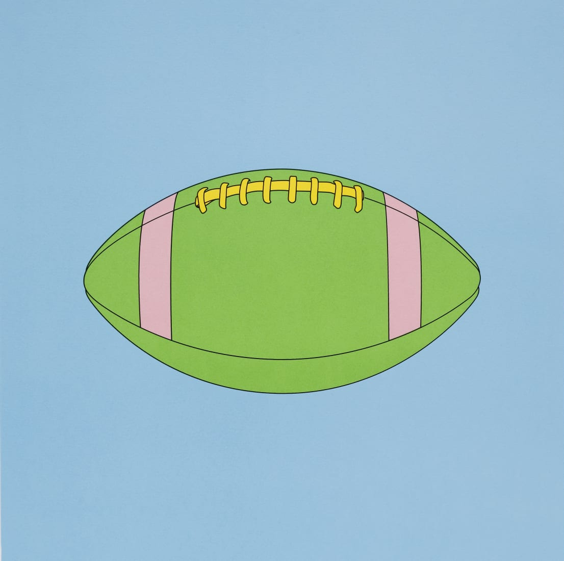 "<span class=""artist""><strong>Michael Craig-Martin</strong></span>, <span class=""title""><em>American football</em>, 2019</span>"