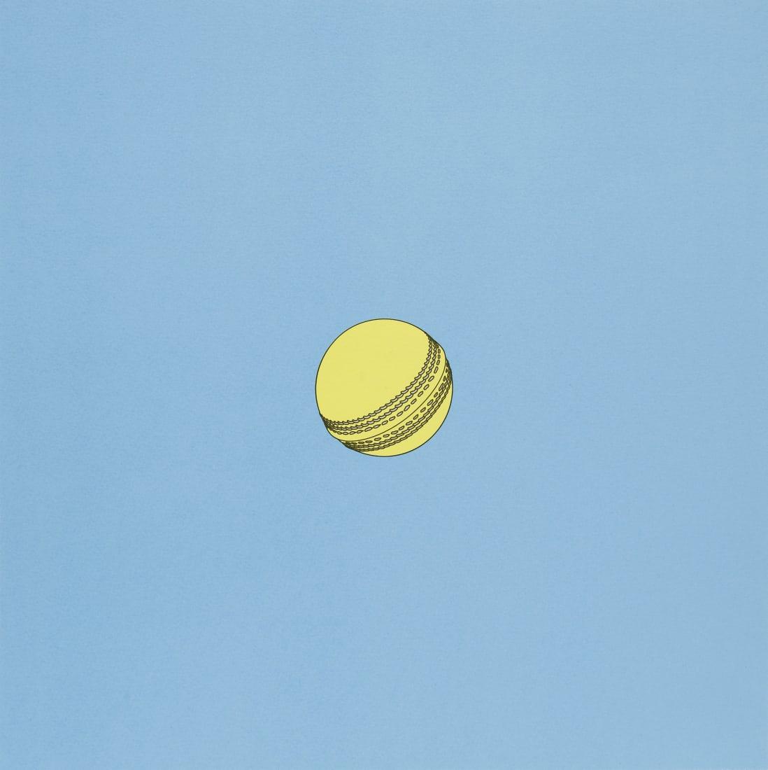 """<span class=""""artist""""><strong>Michael Craig-Martin</strong></span>, <span class=""""title""""><em>Cricket ball</em>, 2019</span>"""