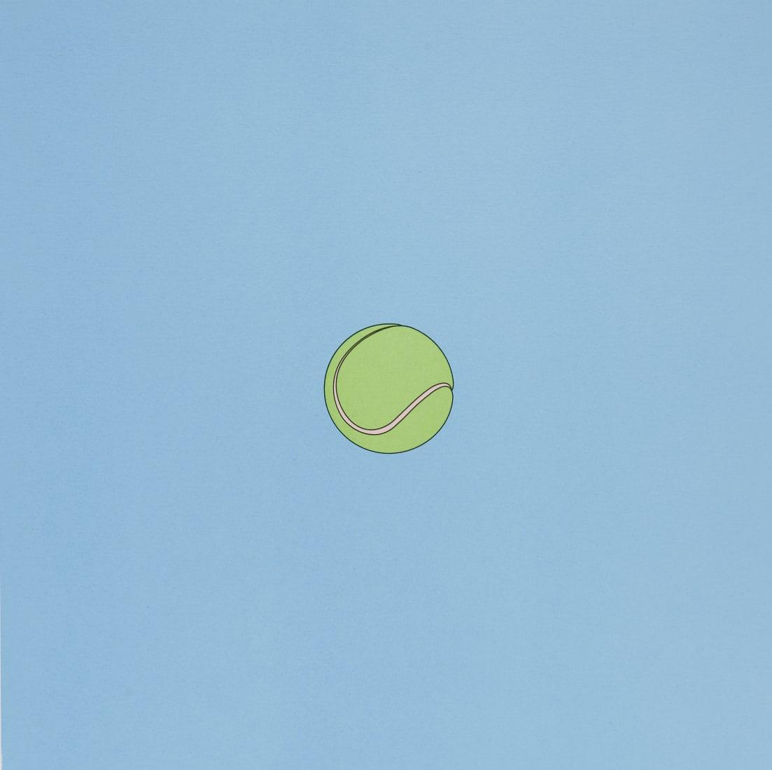 """<span class=""""artist""""><strong>Michael Craig-Martin</strong></span>, <span class=""""title""""><em>Tennis ball</em>, 2019</span>"""