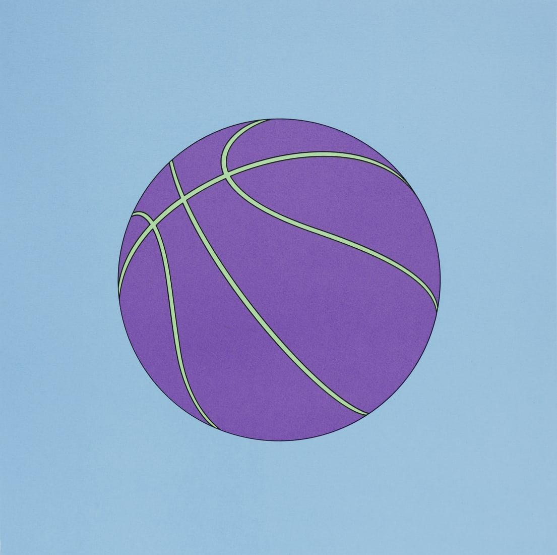 """<span class=""""artist""""><strong>Michael Craig-Martin</strong></span>, <span class=""""title""""><em>Basketball</em>, 2019</span>"""