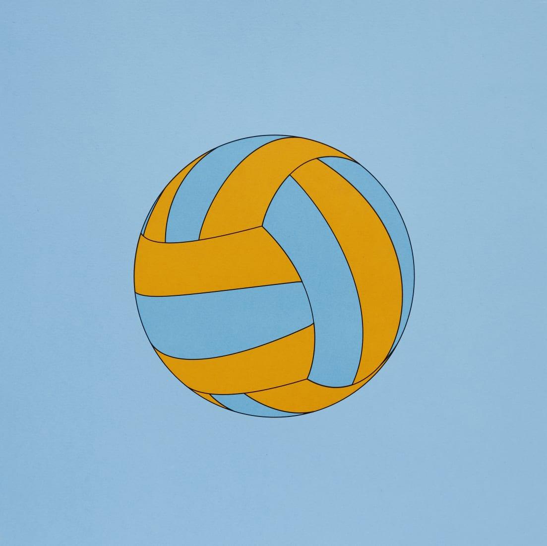 """<span class=""""artist""""><strong>Michael Craig-Martin</strong></span>, <span class=""""title""""><em>Volleyball</em>, 2019</span>"""