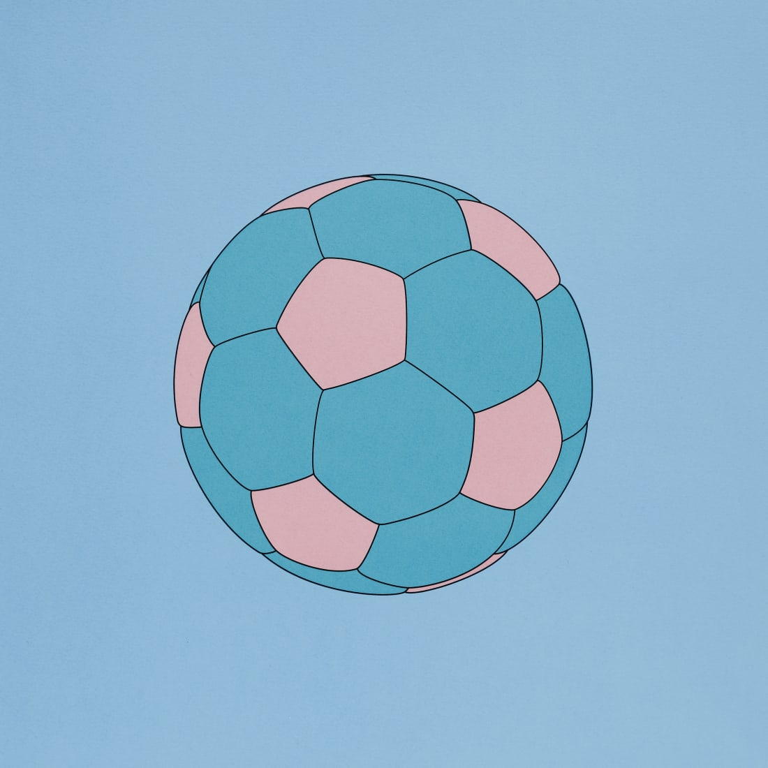 """<span class=""""artist""""><strong>Michael Craig-Martin</strong></span>, <span class=""""title""""><em>Football</em>, 2019</span>"""
