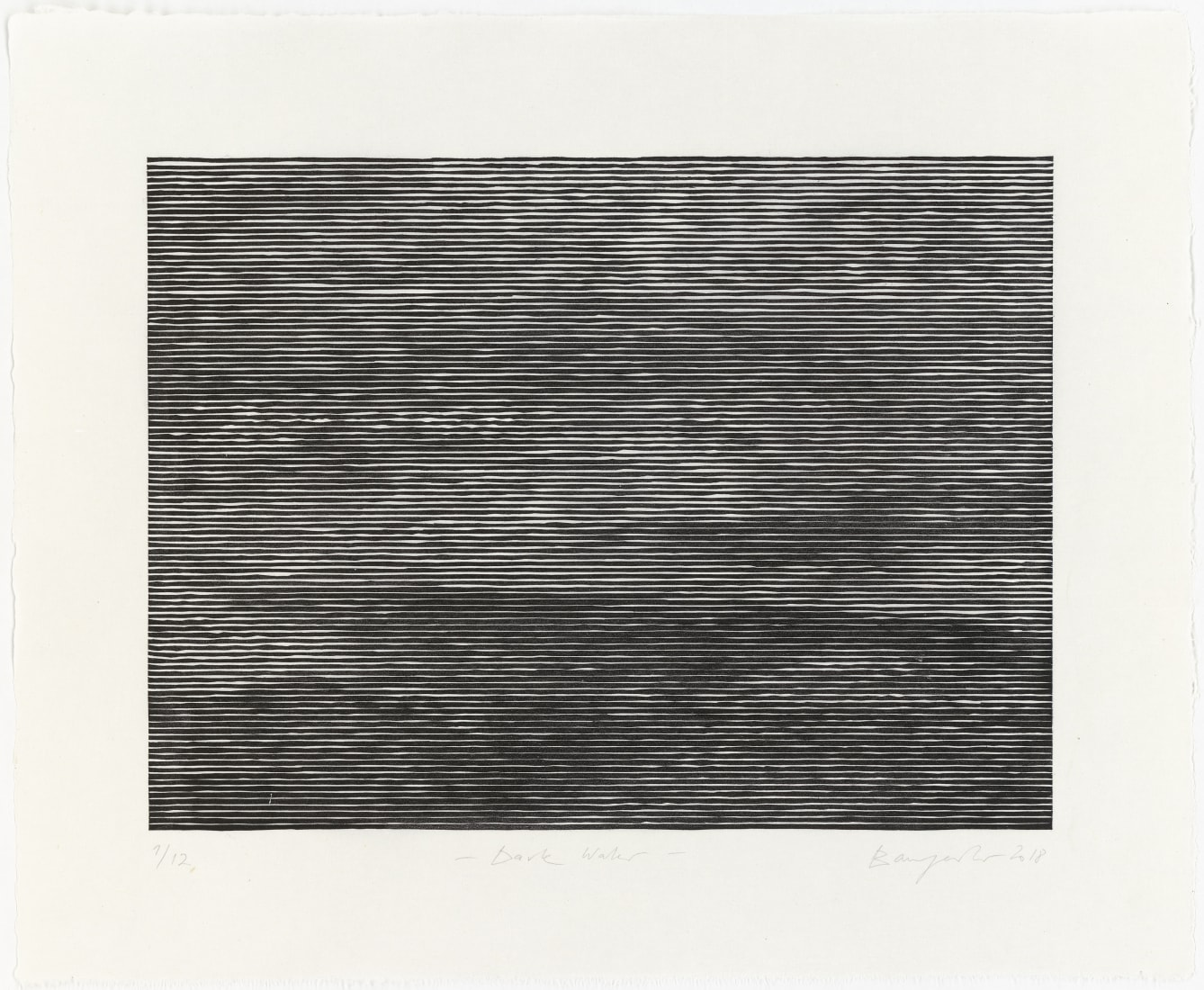 <p><em><strong>Dark Water</strong></em>, 2018</p><p>Woodcut&#160;<br />Paper 48.0 x 59.5 cm / image 33.8 x 45.3 cm<br />Edition of 12</p>